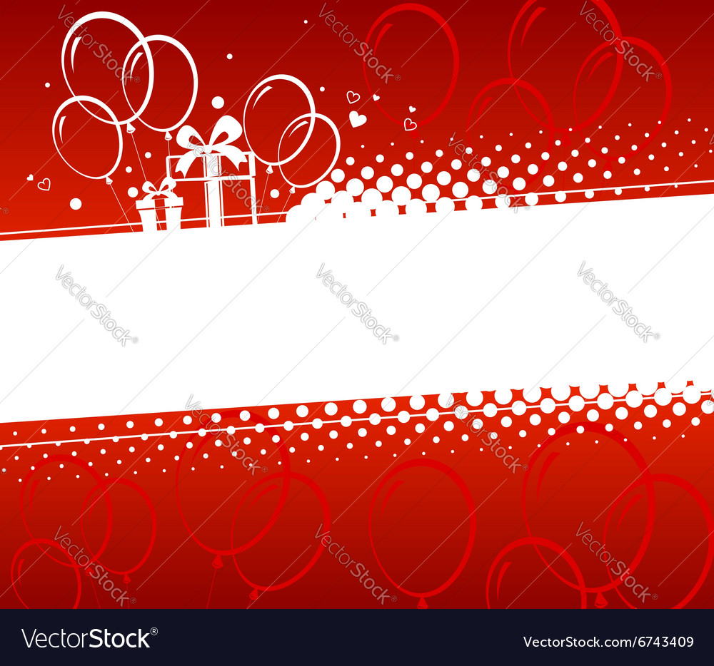 Birthday Background Royalty Free Vector Image Vectorstock