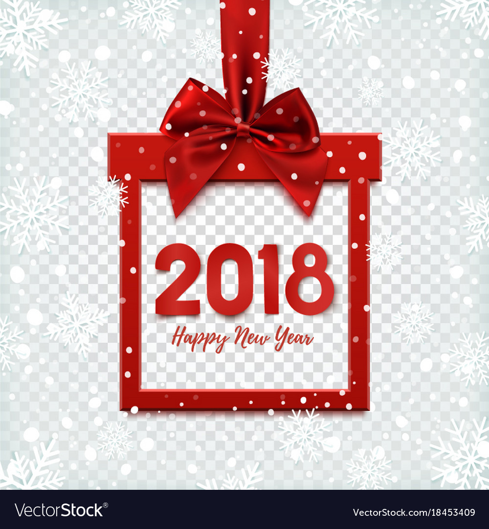 happy new year 2018 background template vector image