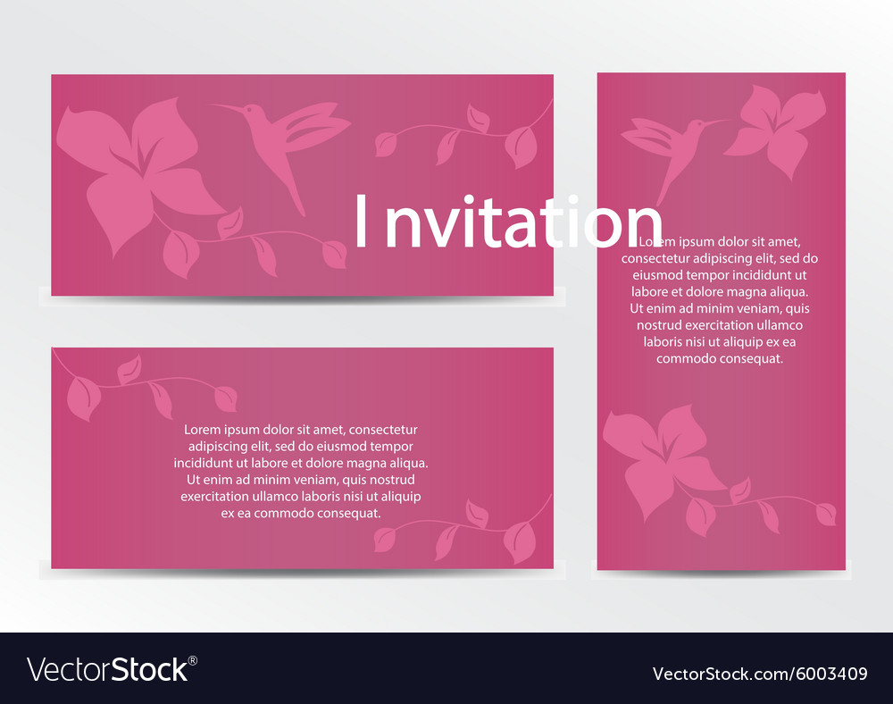 Invitation Save the Date Card Set with