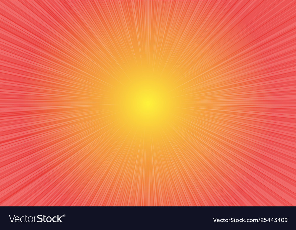 Radial zoom speed on red yellow gradient