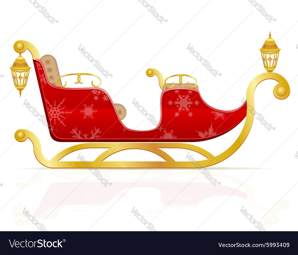 Santa claus sleigh 01 vector image