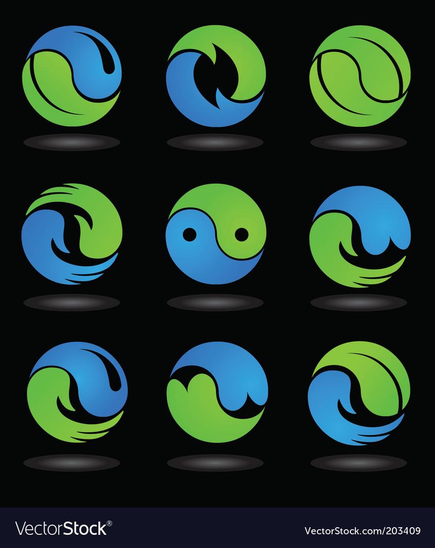 Yin Yang logos and icons