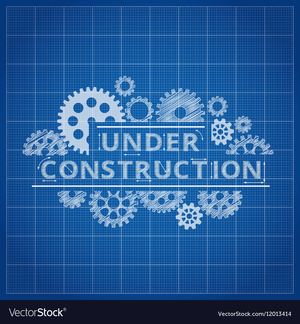 Blueprint website backdrop under construction vector image malvernweather Image collections