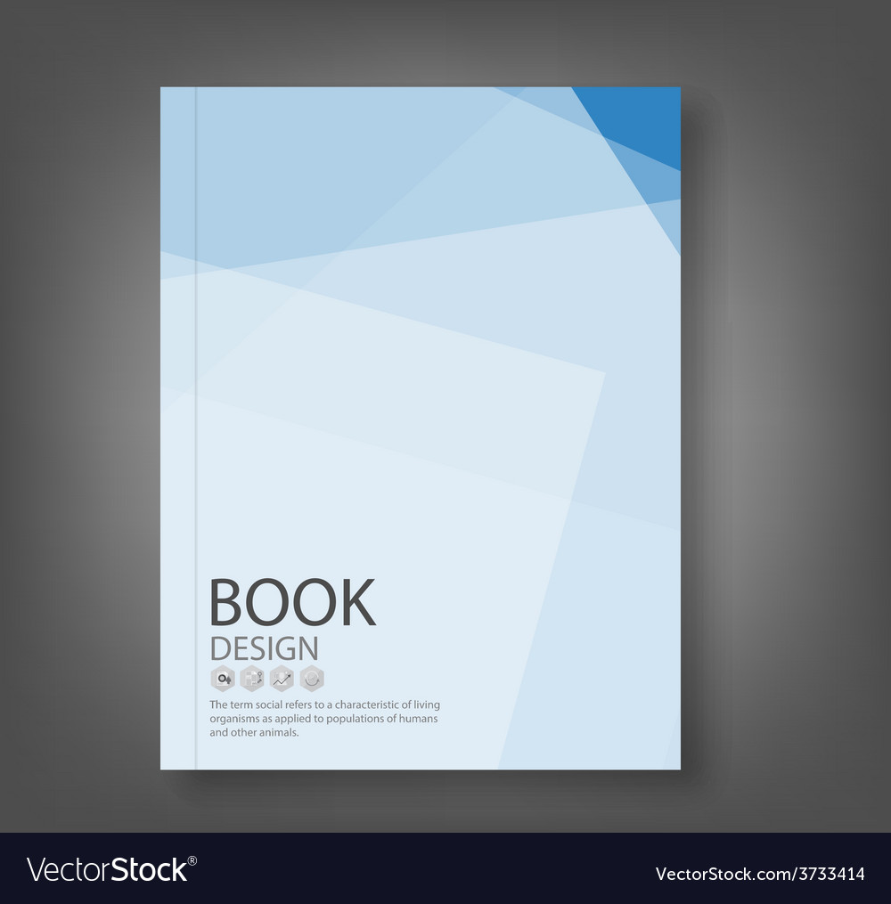 Cover report blue abstract background