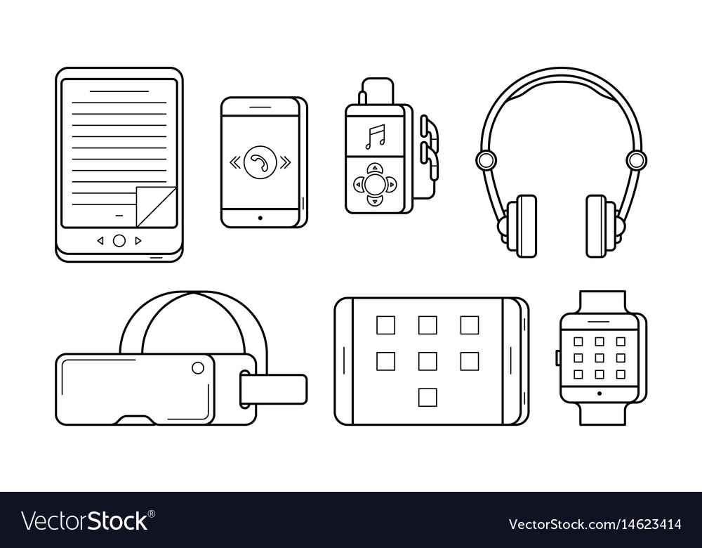 Ebook smartphone and player vector image