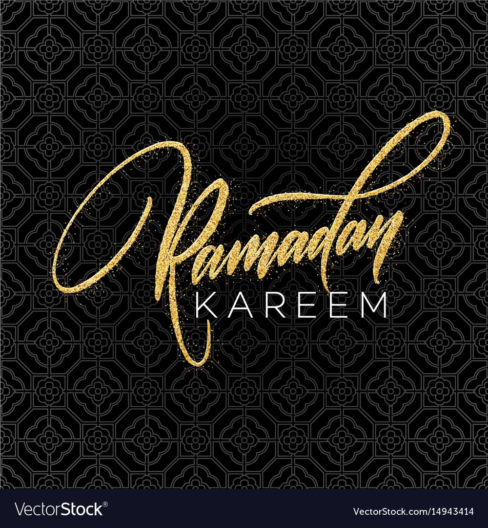 Greeting card with creative text ramadan kareem