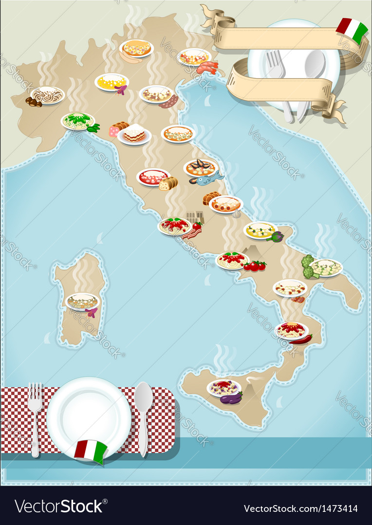 Pdf Map Of Italy.Map Of Regional Pasta In Italy