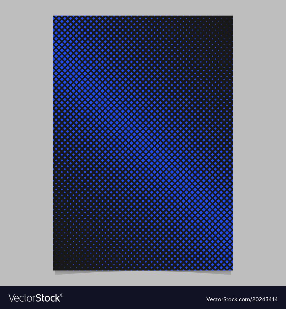 Retro halftone square pattern background brochure