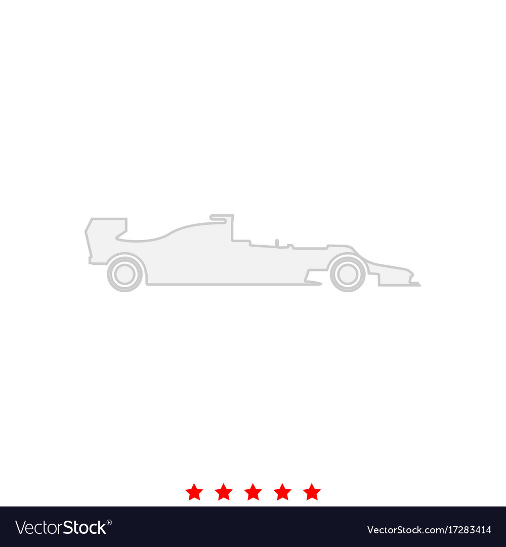 Silhouette of a racing car it is icon