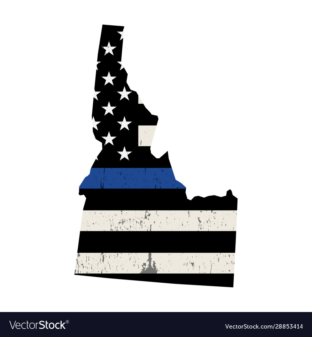 State idaho police support flag