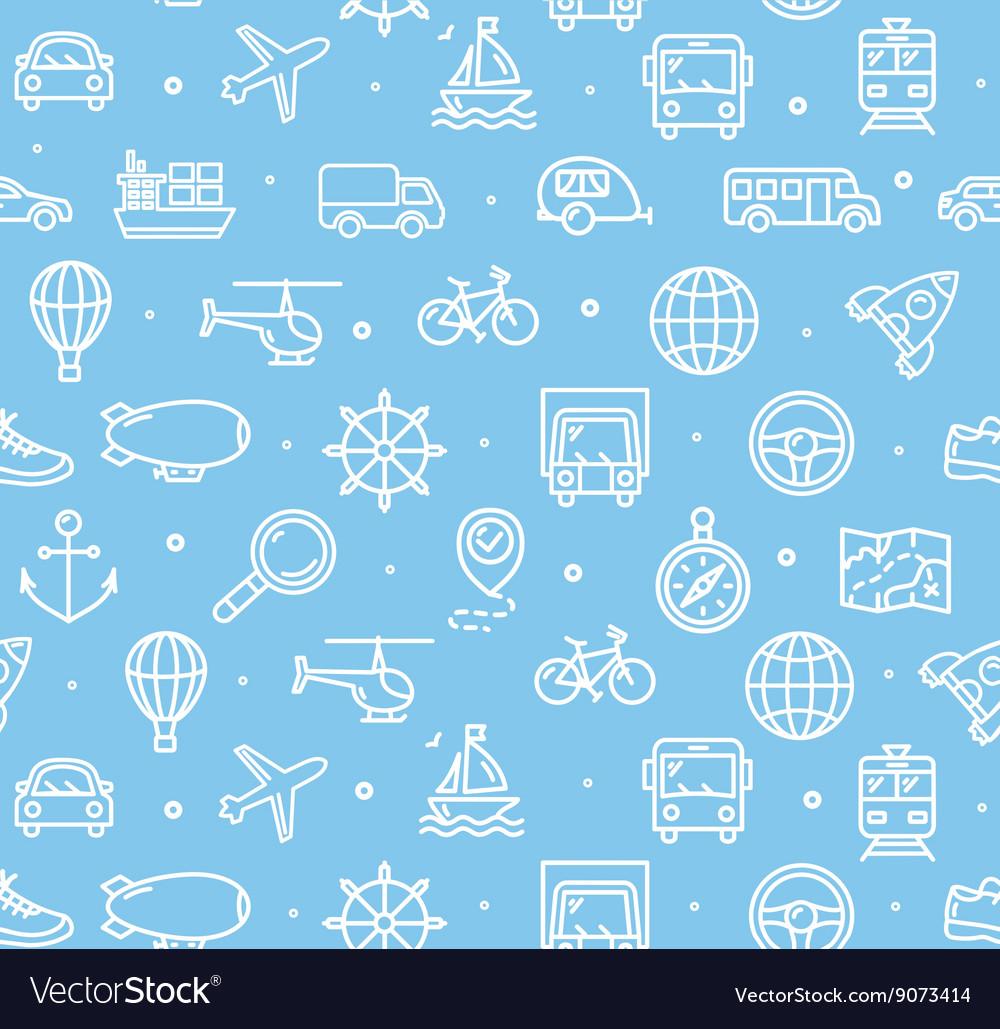 Travel and Transportation Background Pattern