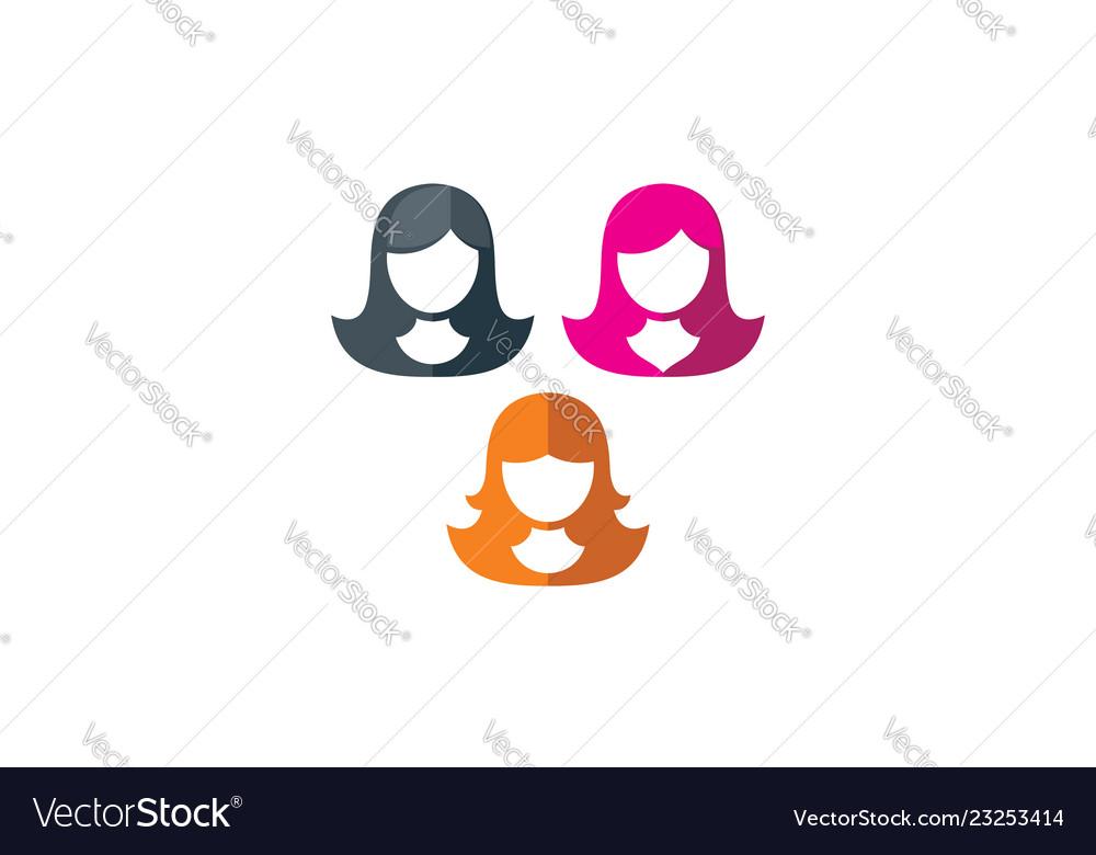Woman head logo icon