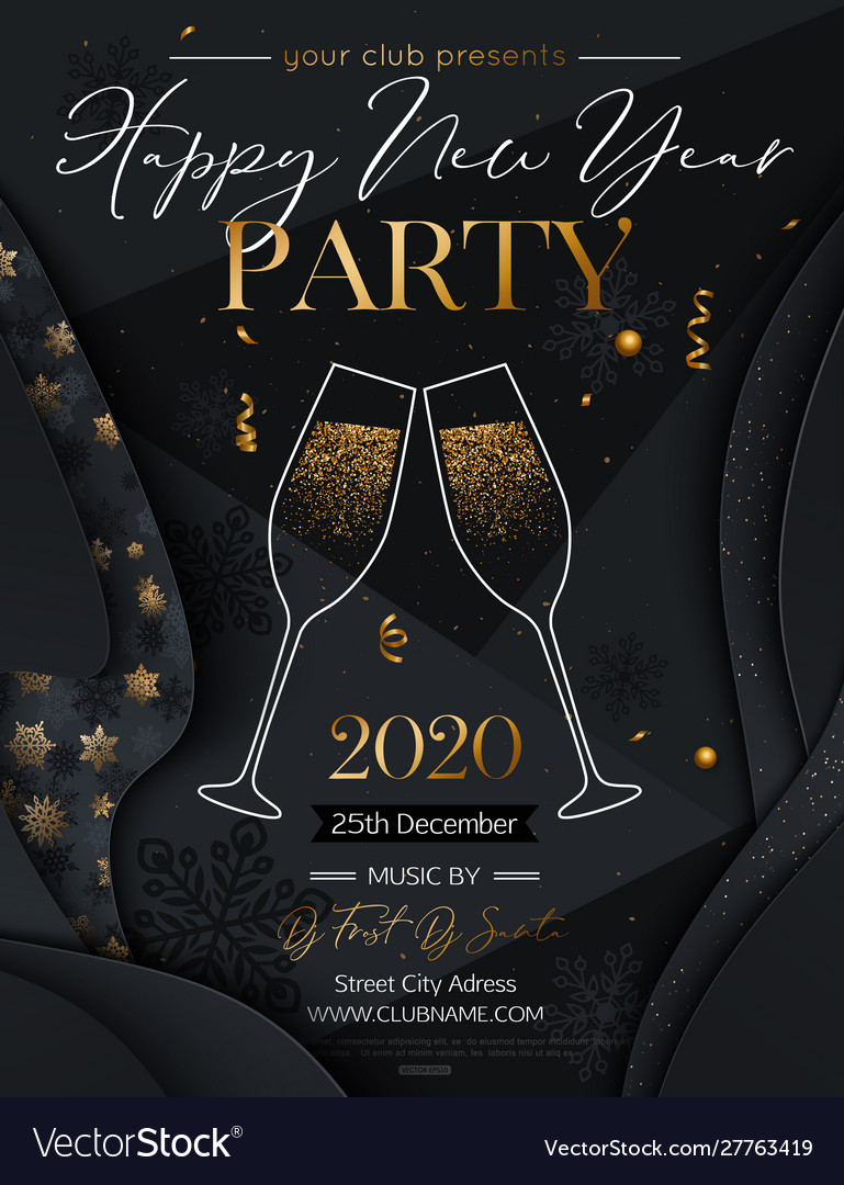 2020 happy new year background new year party