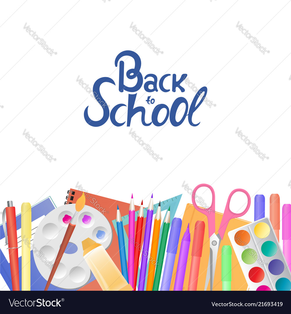 Back to school supplies for teaching and children