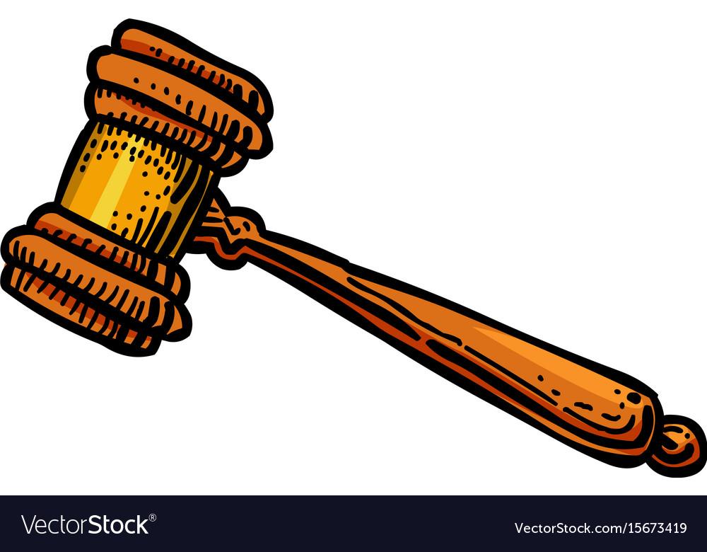 cartoon image of judge gavel icon law symbol vector image rh vectorstock com cartoon gazelles cartoon javelina
