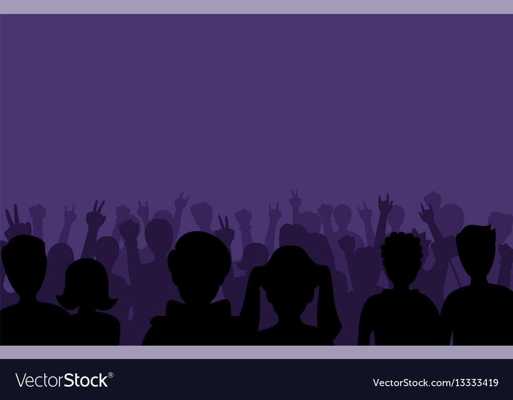 Group of people black business male female concept vector image