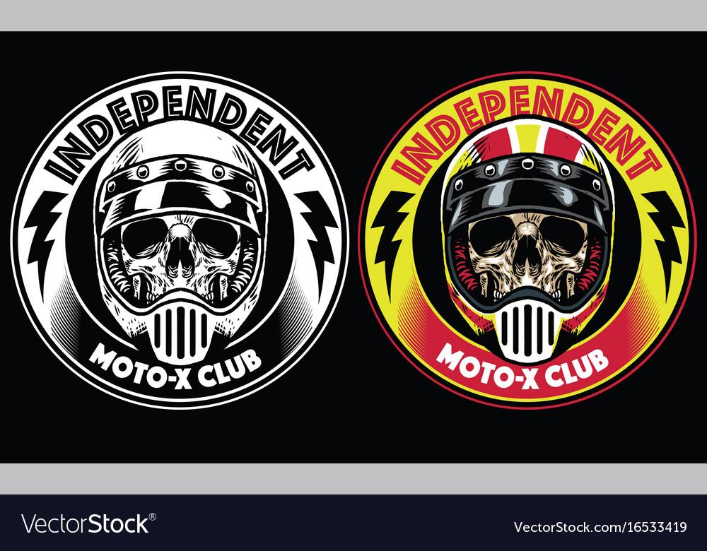 Motorcycle club badge