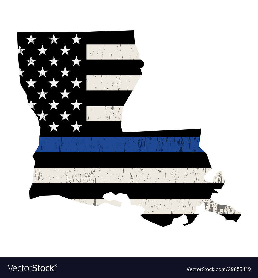 State louisiana police support flag