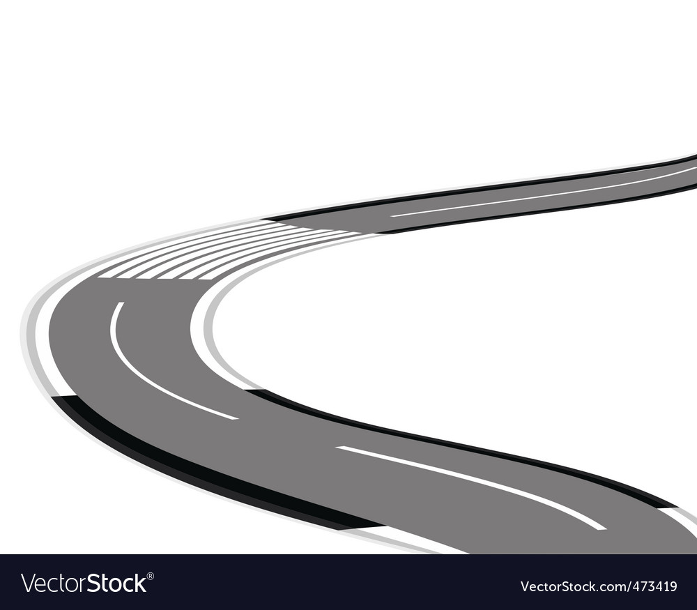 Twisting road over white background