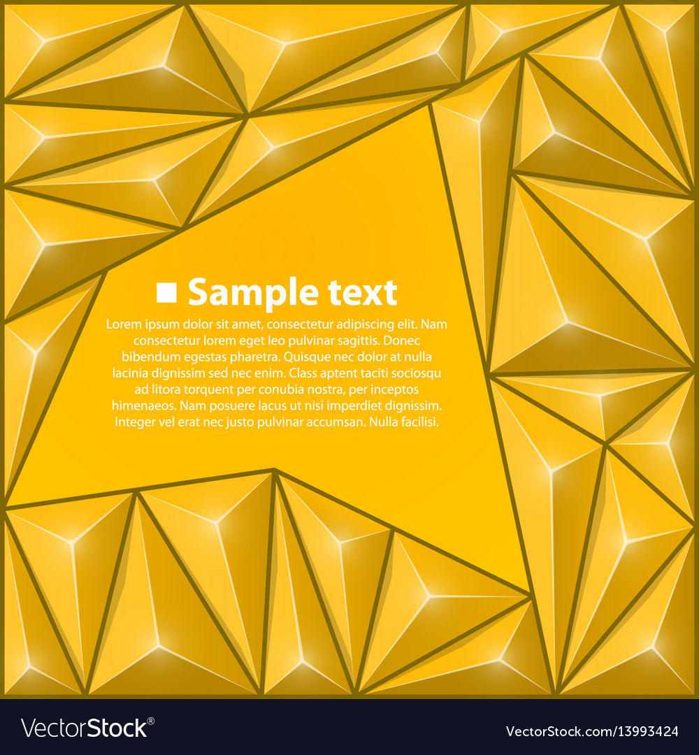 Background with triangles yellow
