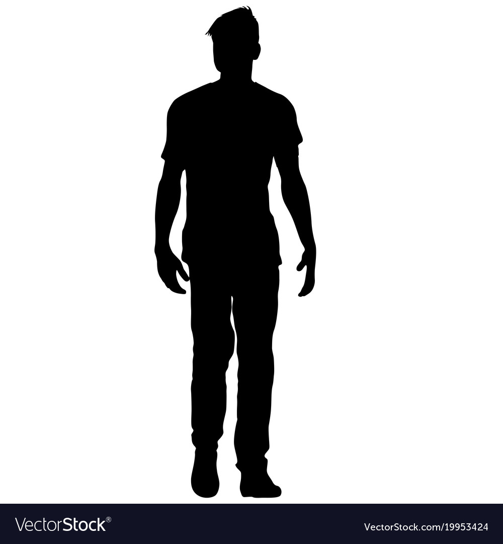 Woman and man silhouette standing