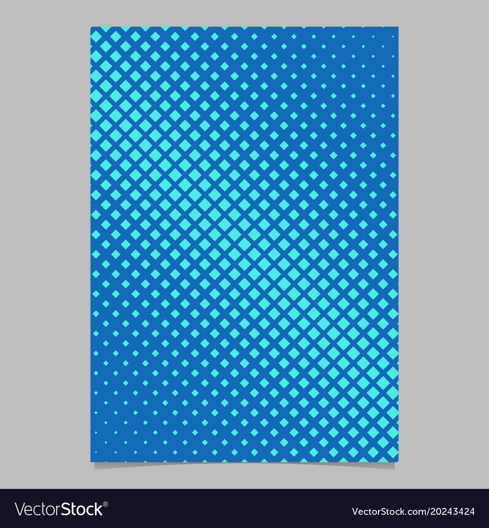 Geometric halftone diagonal square pattern