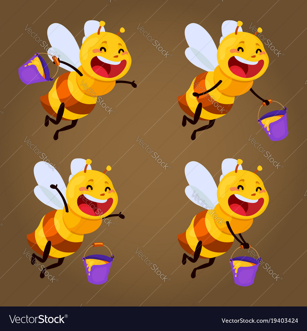 Honey and bee character honey