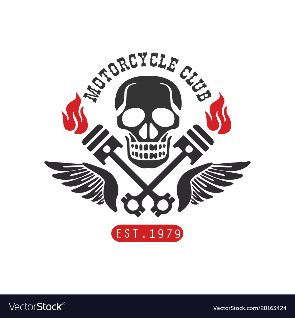 Motorcycle club logo est 1979 design element for