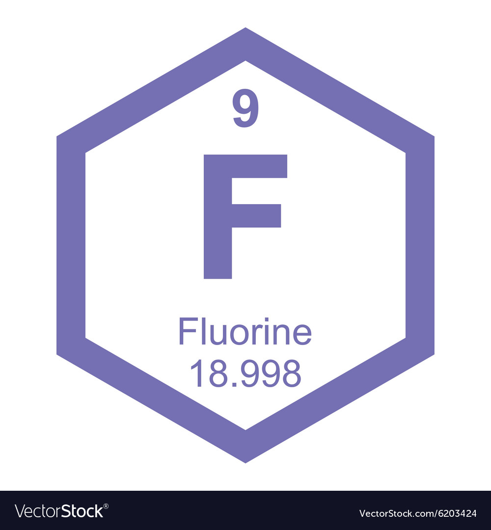 Periodic Table Fluorine Royalty Free Vector Image