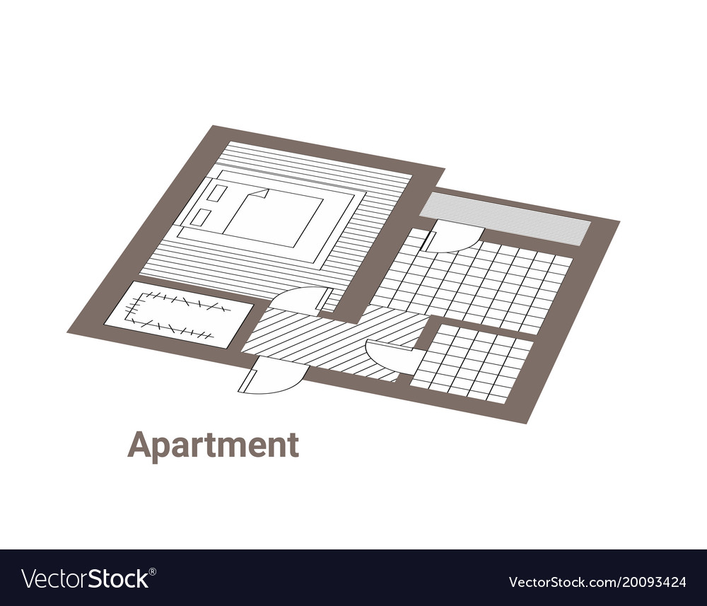 Project of house ground floor vector image
