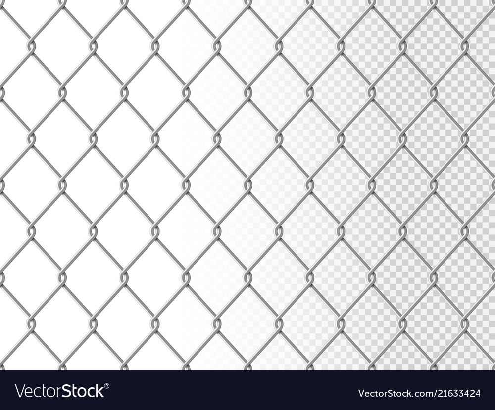 Realistic chain link seamless pattern