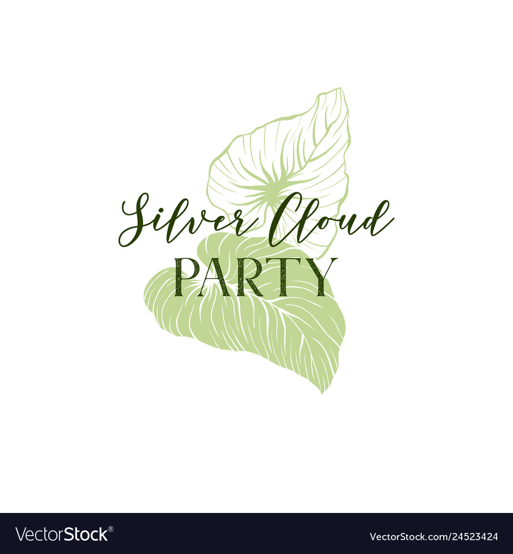 Tropical party invitation hand drawn template
