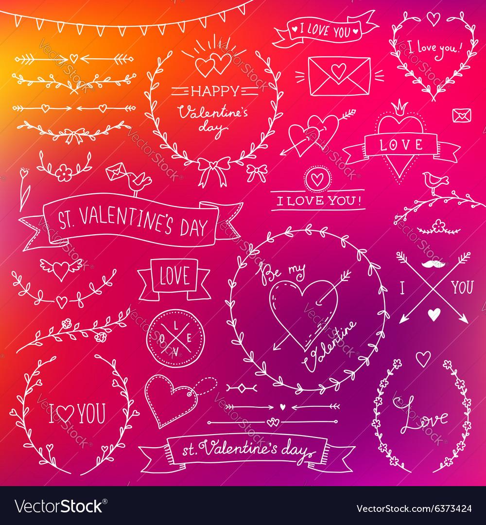 Valentine set red