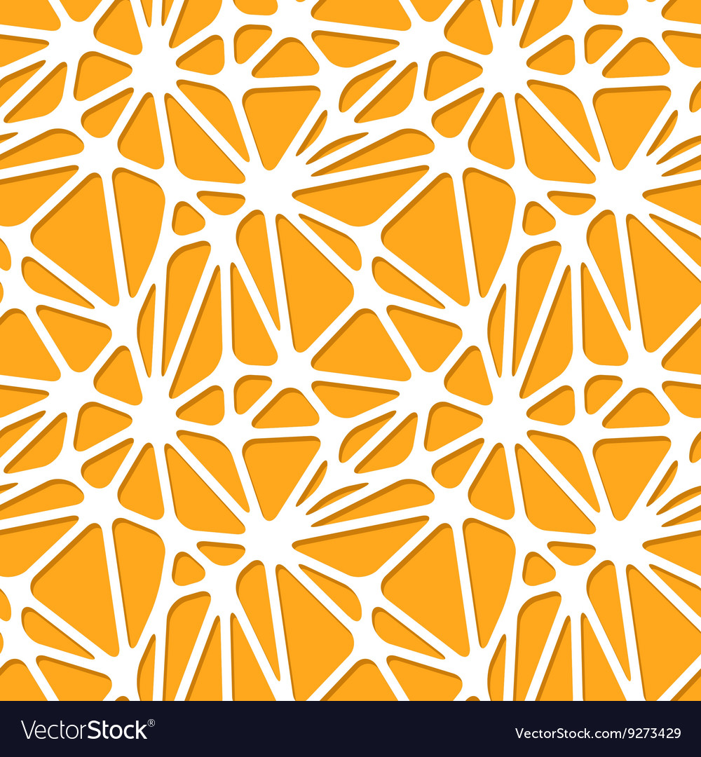 Abstract orange shapes on white seamless pattern