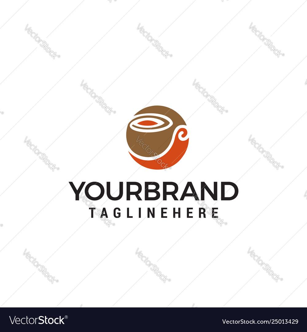 Coffee logo design concept template