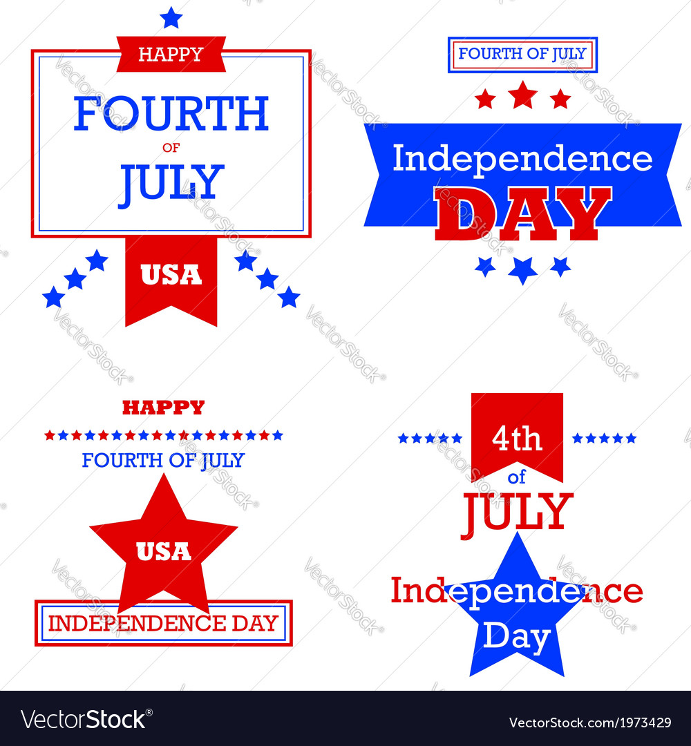 Independence Day retro cards
