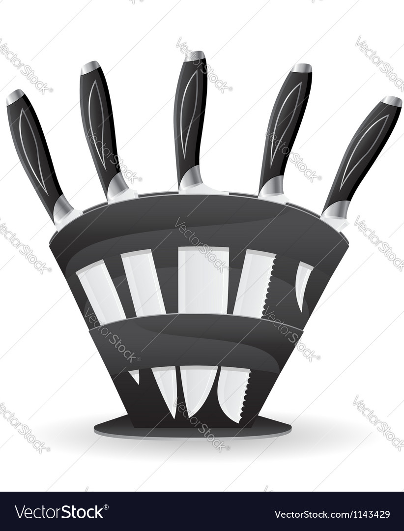 Knife set for the kitchen 03 vector image