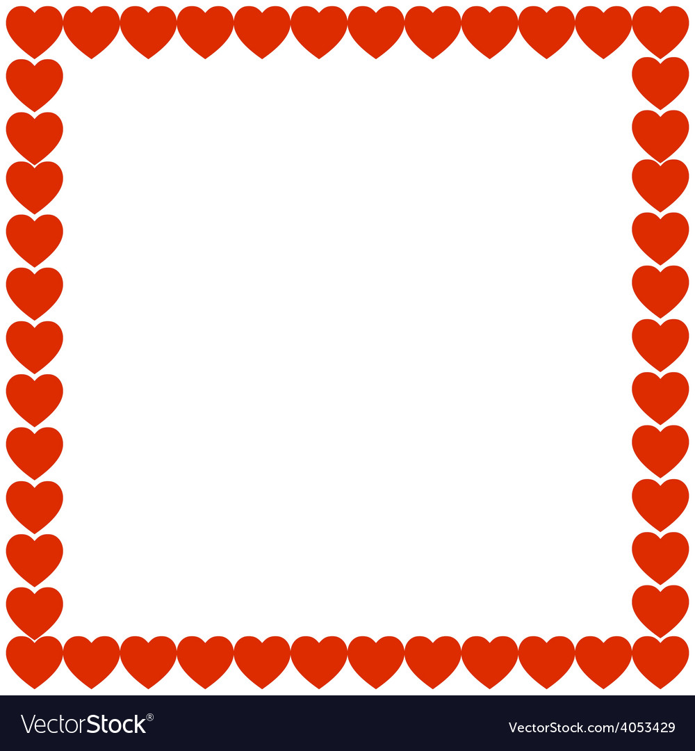 Red heart holiday gift background frame vector image