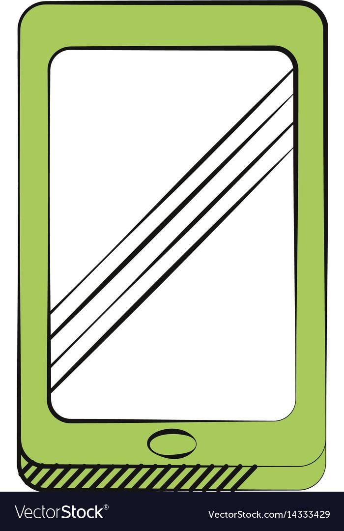 Smartphone technology communication icon vector image