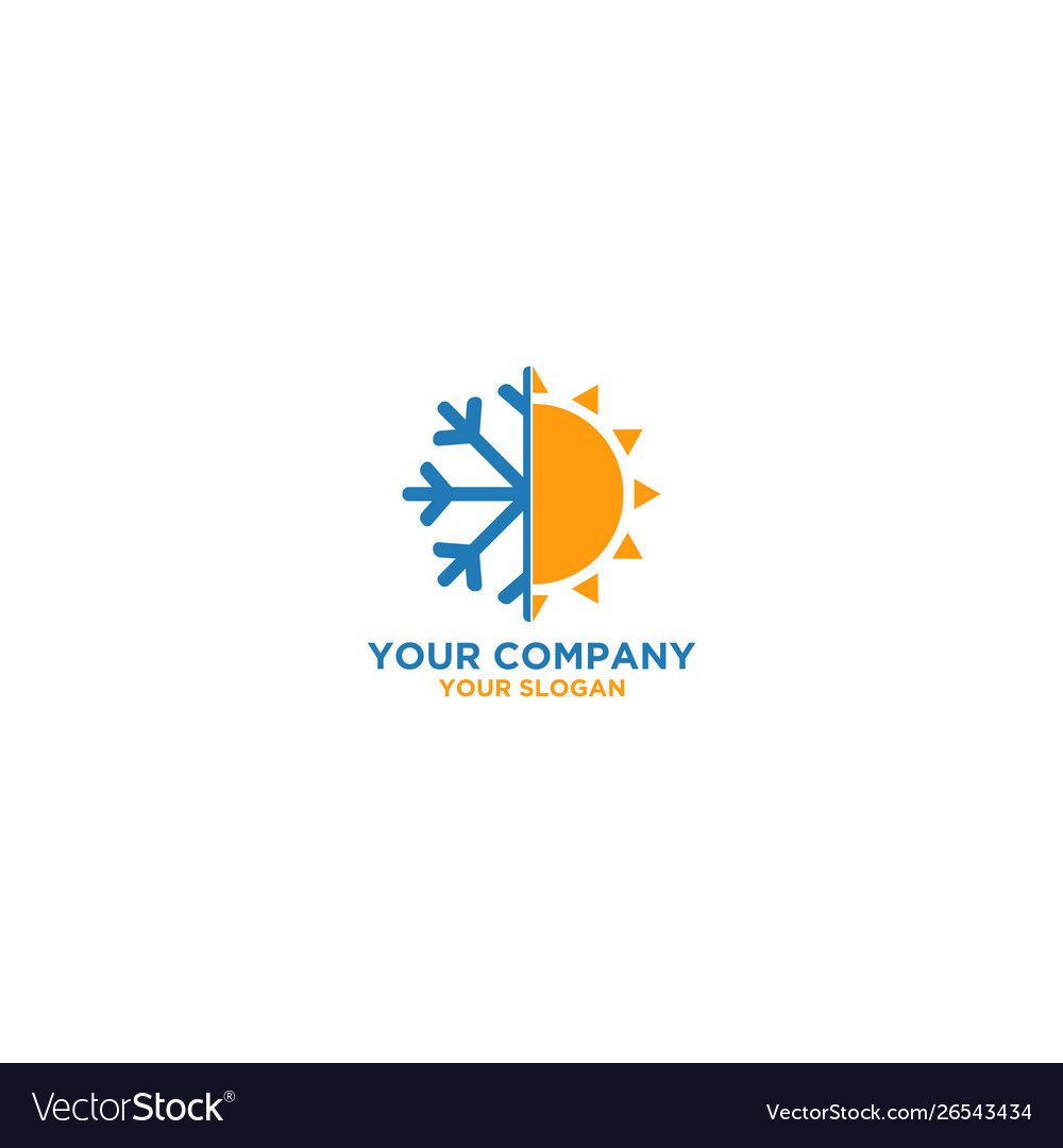 Air Conditioner And Heating Logo Design Royalty Free Vector