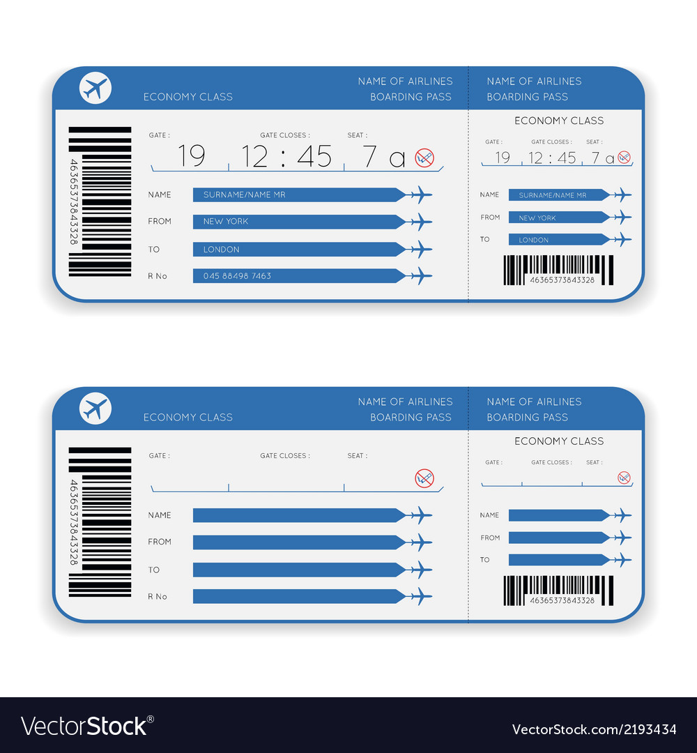 Airline boarding pass ticket