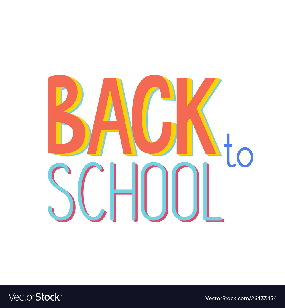 Back to school banner design text sign or logo