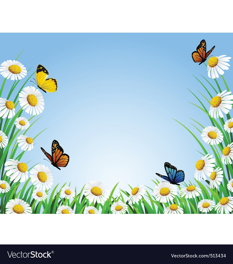 Background grass vector image