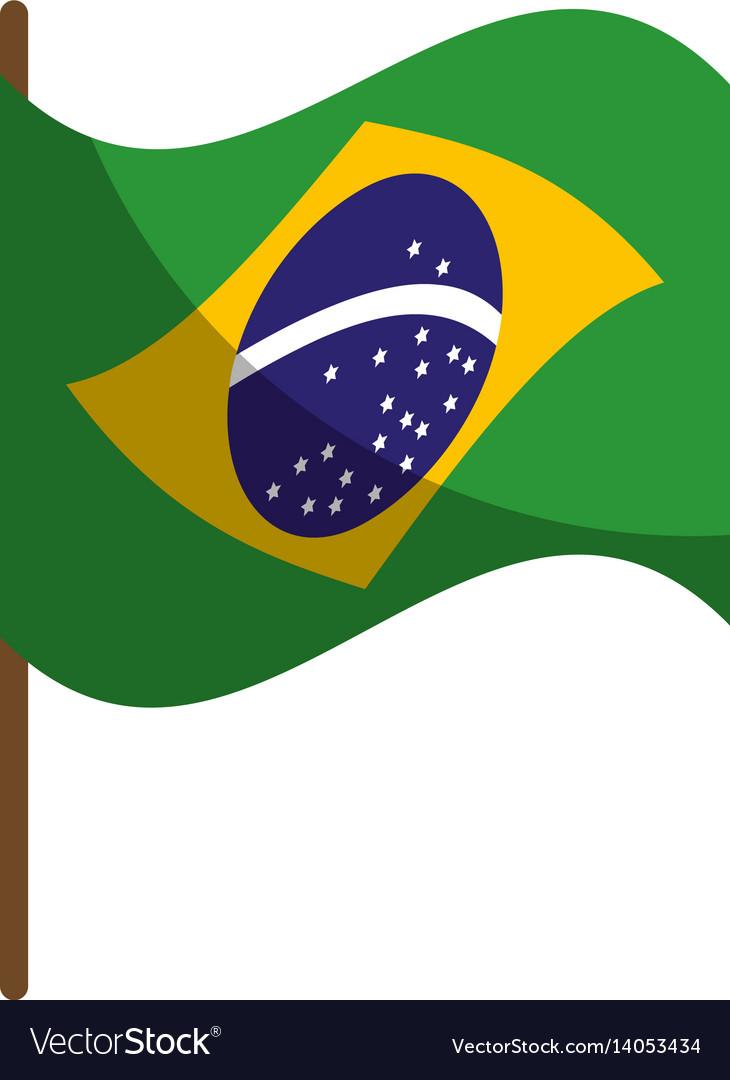 Brazil flag isolated icon