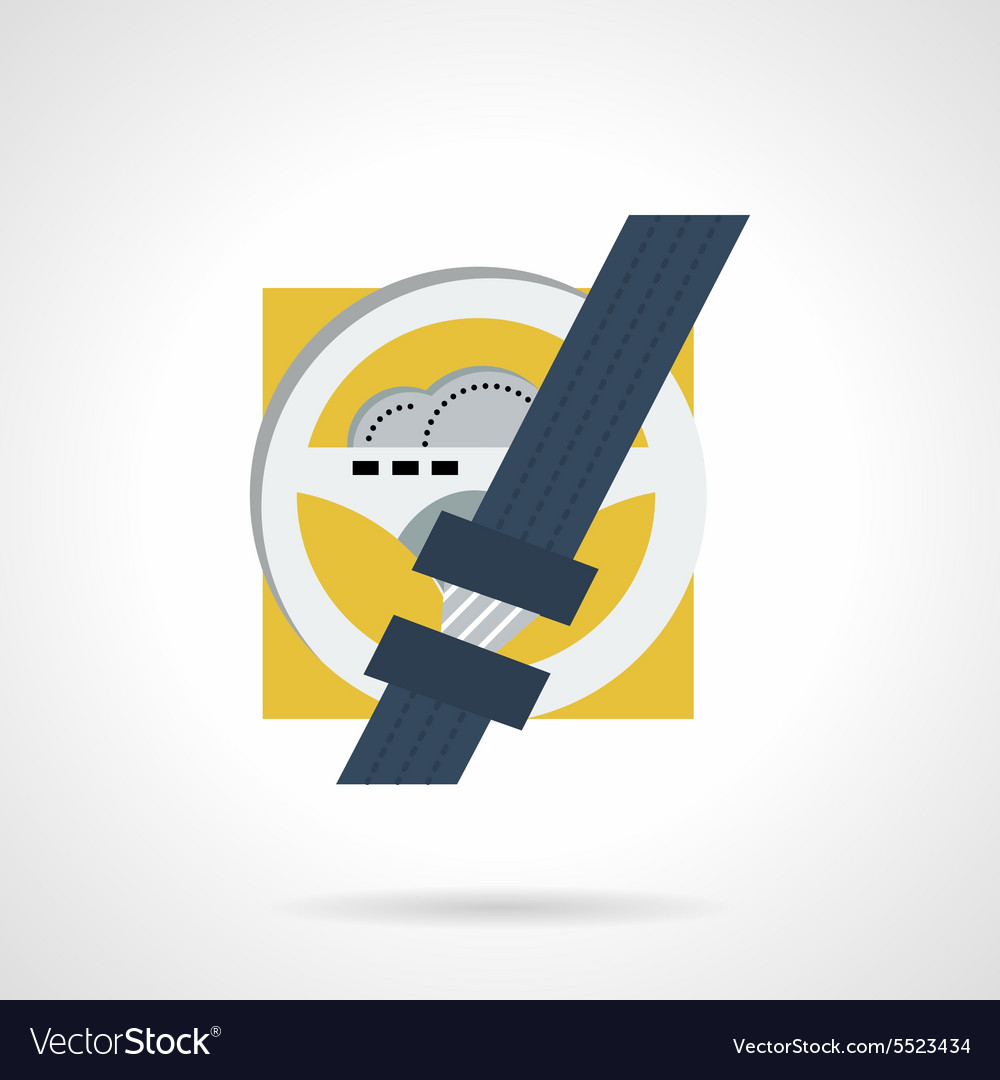 Driver safety flat icon