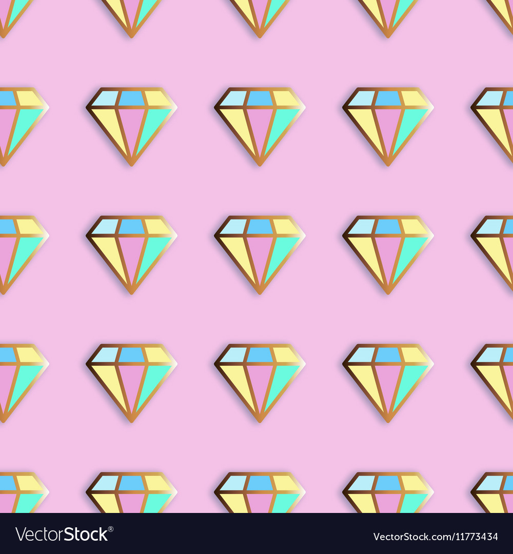 Fashion pins seamless pattern vector