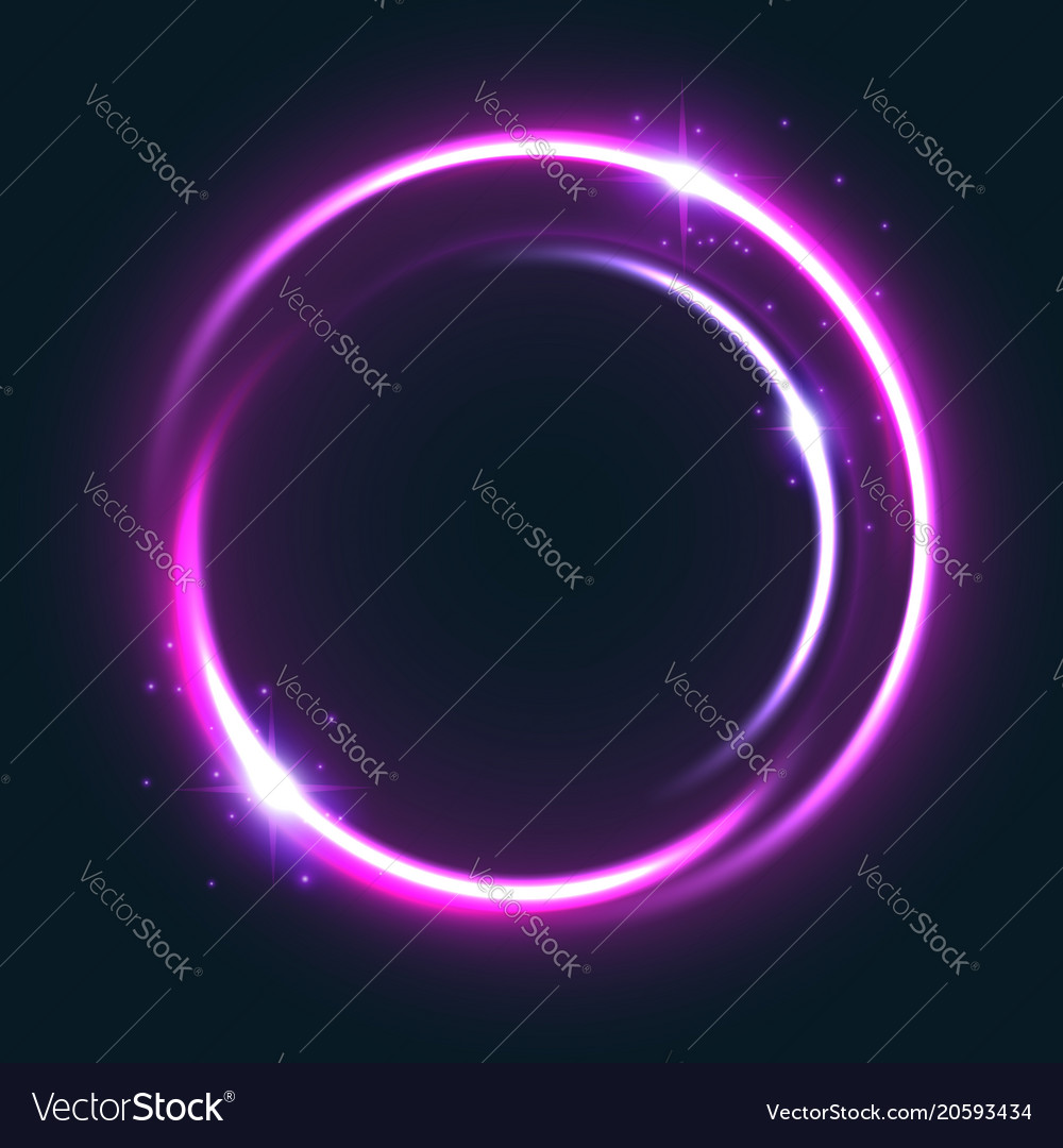 Glowing circle light effect with shining star
