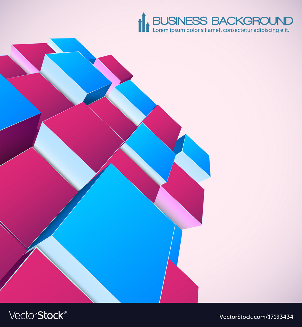 Isometric abstract background for business