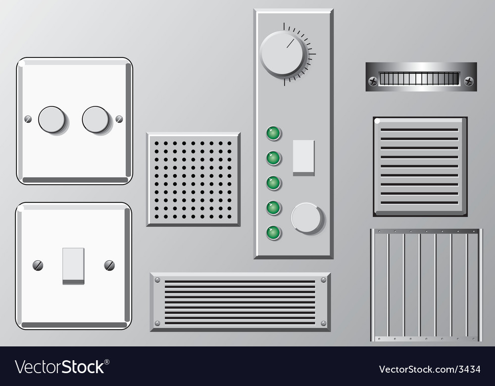 Panels and switches vector image