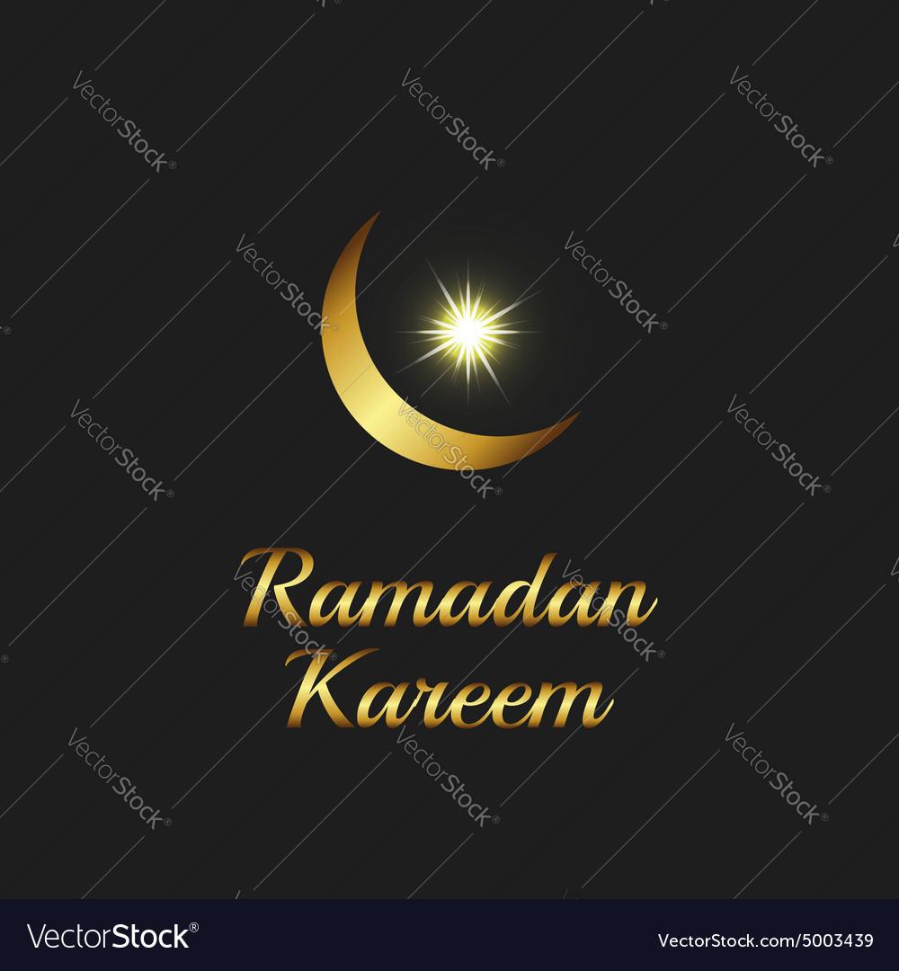 Ramadan Kareem Background Islam Symbol Golden Moon